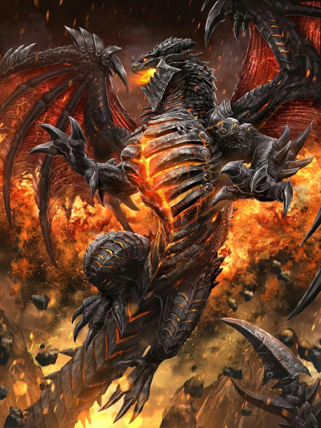 Deathwing | WARCRAFT | World of warcraft wallpaper, Fire