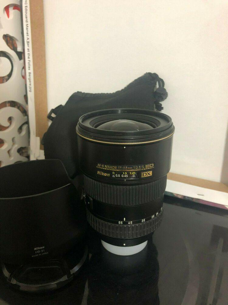 Nikon Af S 17 55mm 1 2 8 G Ed Dx Lens Nikkor Afs 17 55 Mm F 2 8g Stuff To Buy Lens Nikon
