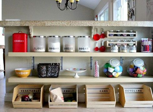 Small kitchen organizing ideas under counter storage for Kitchen countertop storage solutions