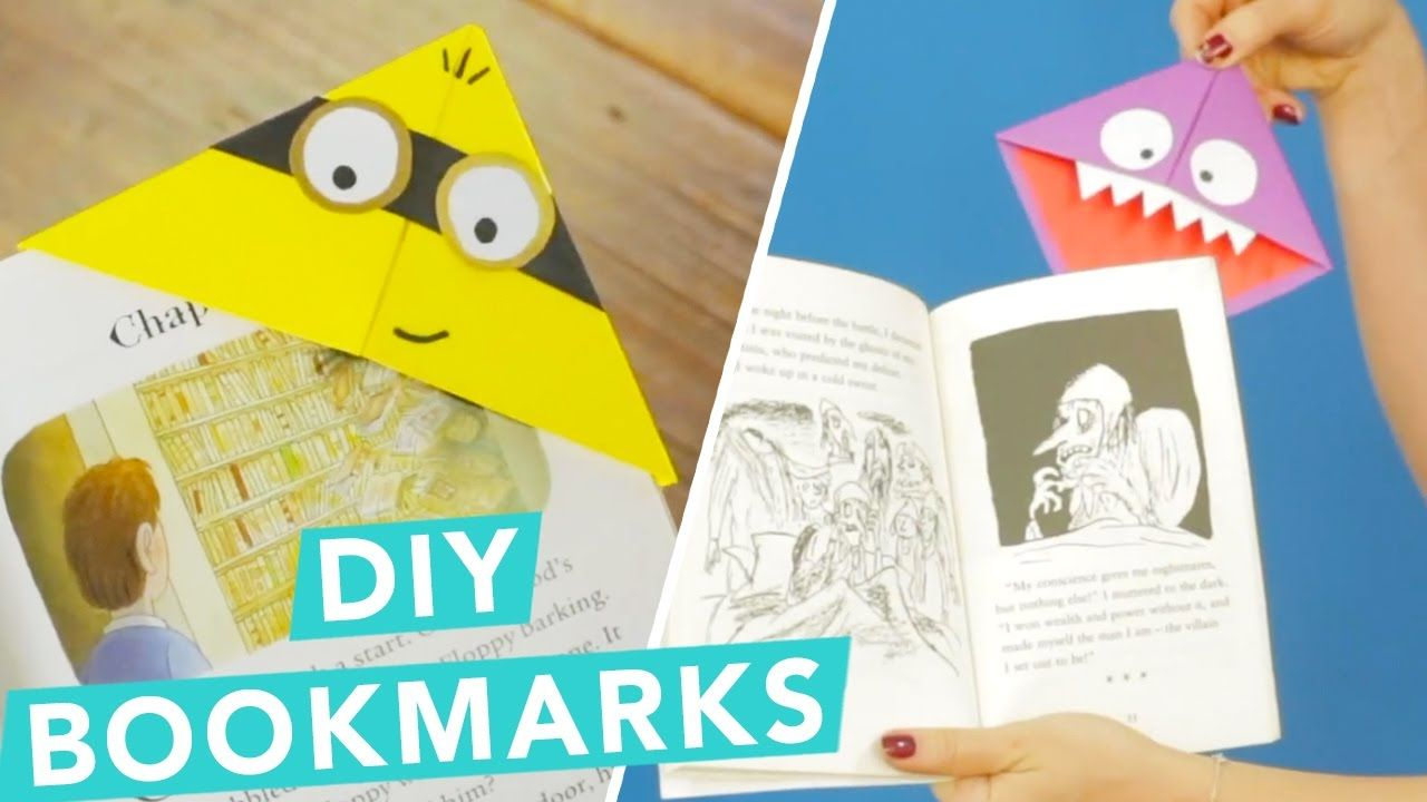 Easy diy children 39 s bookmarks bookmarks upcycling and easy for Diy bookmarks for guys