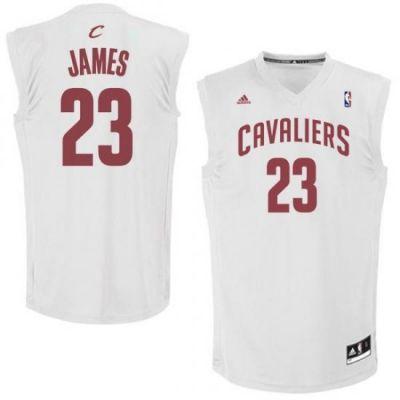best authentic 5c5c9 532ae Mens Cleveland Cavaliers LeBron James adidas White Fashion ...