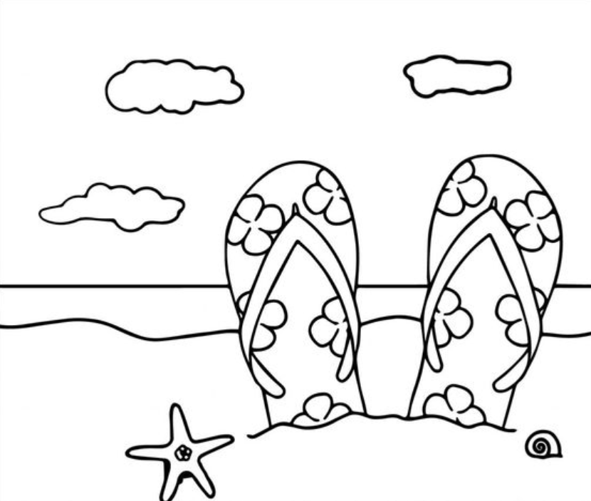 Summer Coloring Pages To Print on a budget