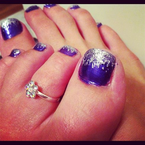 Purple And Silver Nail Designs Wedding Day 3 Pinterest Nails