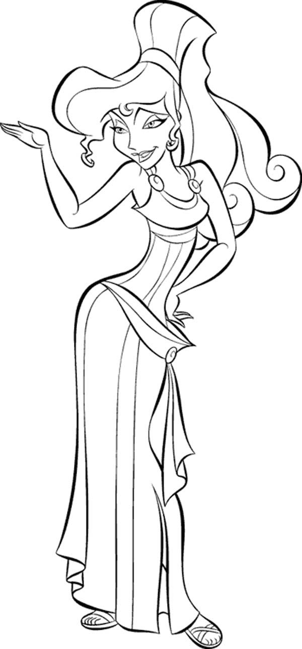 Hercules Girlfriend Beautiful Megara Coloring Pages Bulk Color Disney Coloring Pages Coloring Pages Disney Paintings