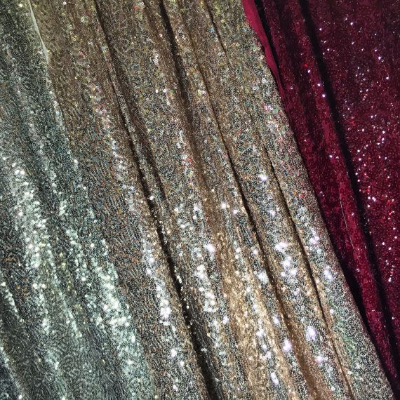Silver GlitterSparkly Dancing Curtain Fabric Party Costume Material SoldbyMetre