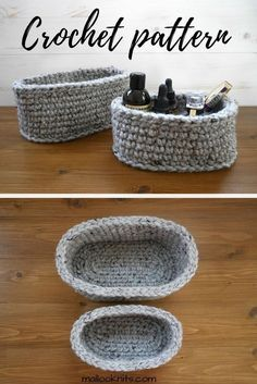 How To Make Your Own Oval Baskets Free Pattern Knit Bags And