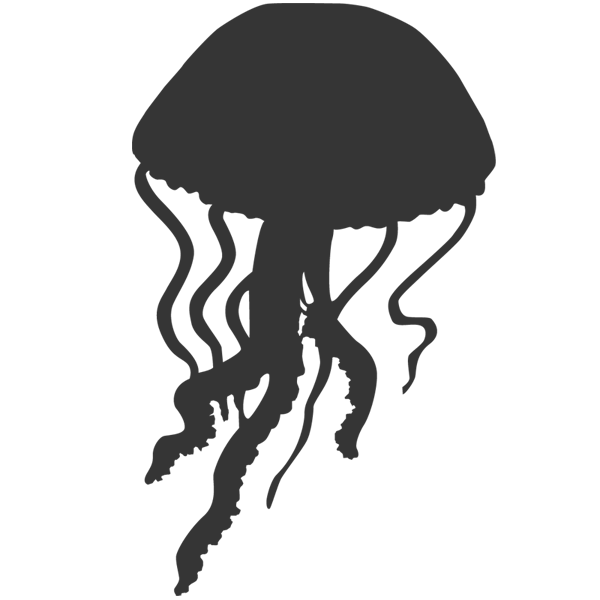 jellyfish silhouette images   pictures becuo i heart octopus clipart silhouette octopus clipart transparent