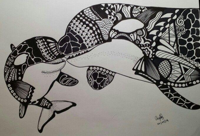 zen doodle killer whales - Google Search