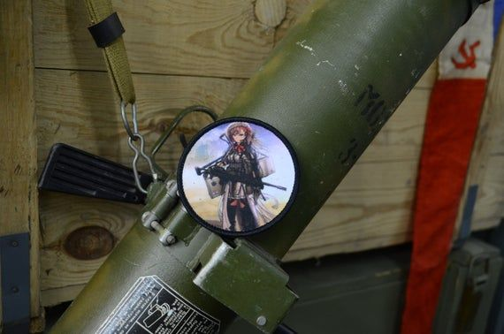 Girls' Frontline Negev, tactical doll military morale patchSize: 3 inch (8cm)This is patch Sticky, Hook Tape on back. What is Sticky Hook  Tape ? - Most commonly known as Velcro, however as Velcro is a brand name we cannot call our product Velcro. The quality of  Sticky Back Tape is fantastic.BRAND NEW  ! MADE IN RUSSIA!!!All parcels we send from Moscow, registered mail with tracking and notification of delivery!