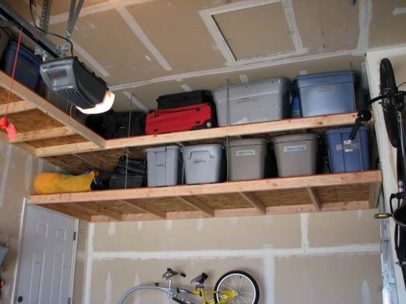 Overhead Shelving Ideas For Garage Decor Ideas Overhead Garage Storage Garage Storage Diy Overhead Garage Storage