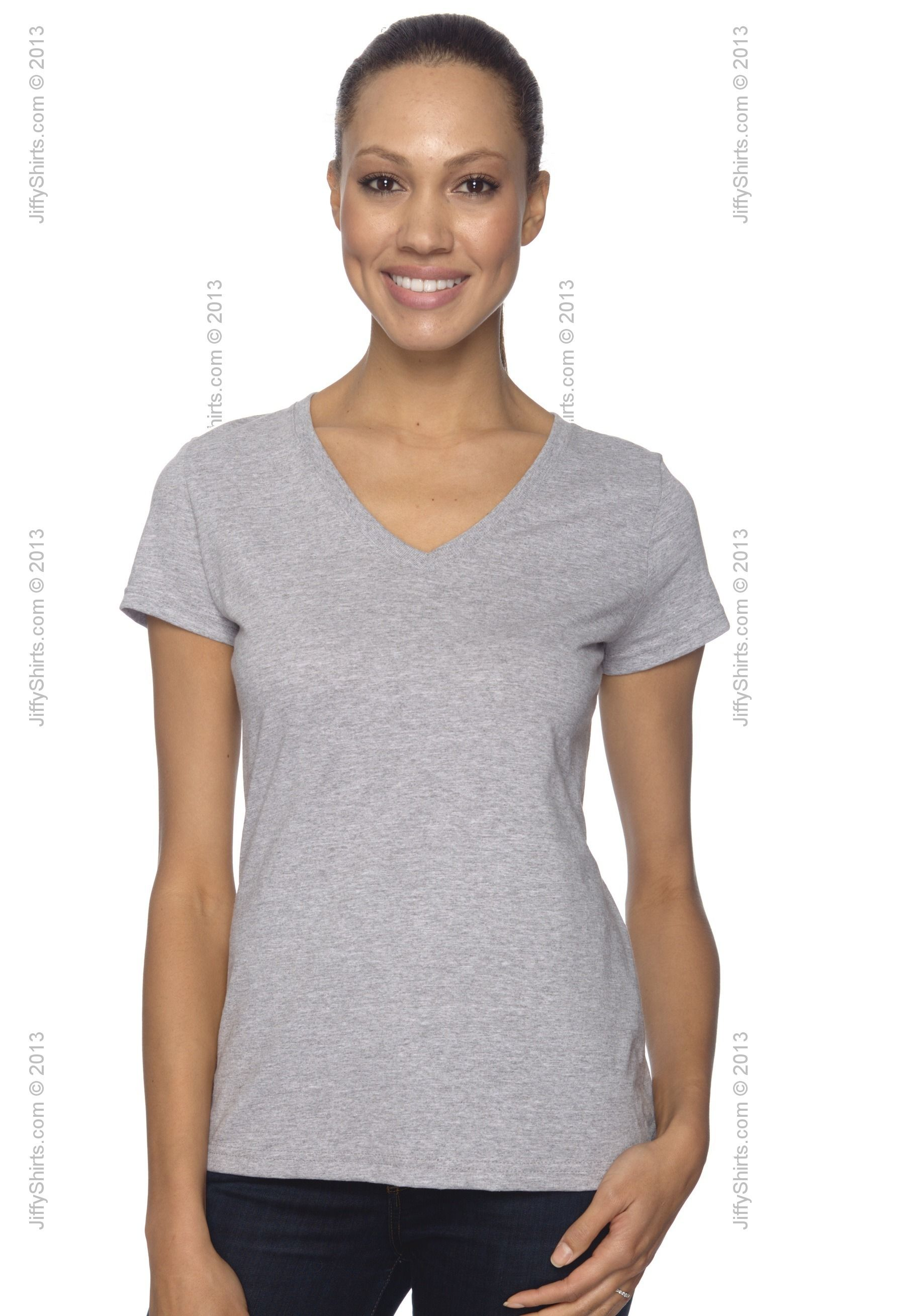 03c144af Fruit of the Loom L39VR Ladies' 5 oz. 100% Heavy Cotton HD V-Neck T-Shirt  from Fruit of the Loom All - JiffyShirts.com $4.83