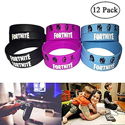 amazon com fortnite party supplies bracelets kids birthday party fortnite gamer gifts set glow in the dark 12 pack toys games - amazon prime fortnite party supplies