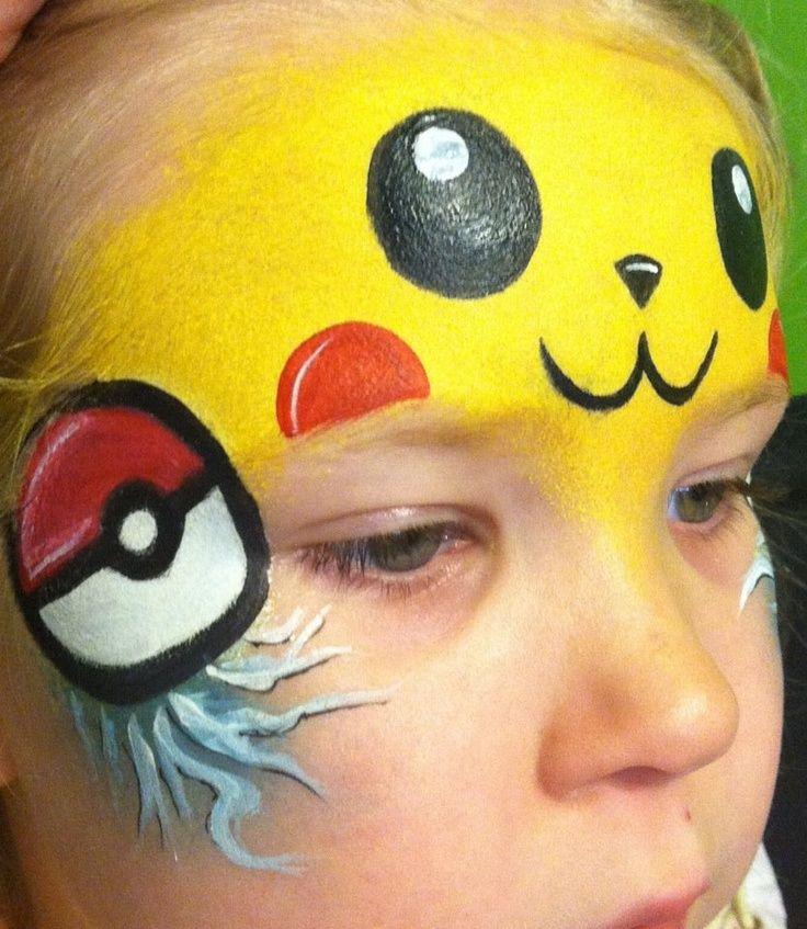 Pikachu Face Painting Google Search Pikachu Face Painting Face Painting Halloween Face Painting Designs