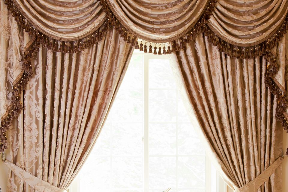 Vintage Baroque Floral Pattern Is Reimagined In This Elegant Curtain Set With Silky Smooth