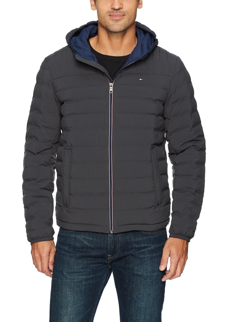 Tommy Hilfiger Men's Ultra Loft Quilted Stretch Hooded