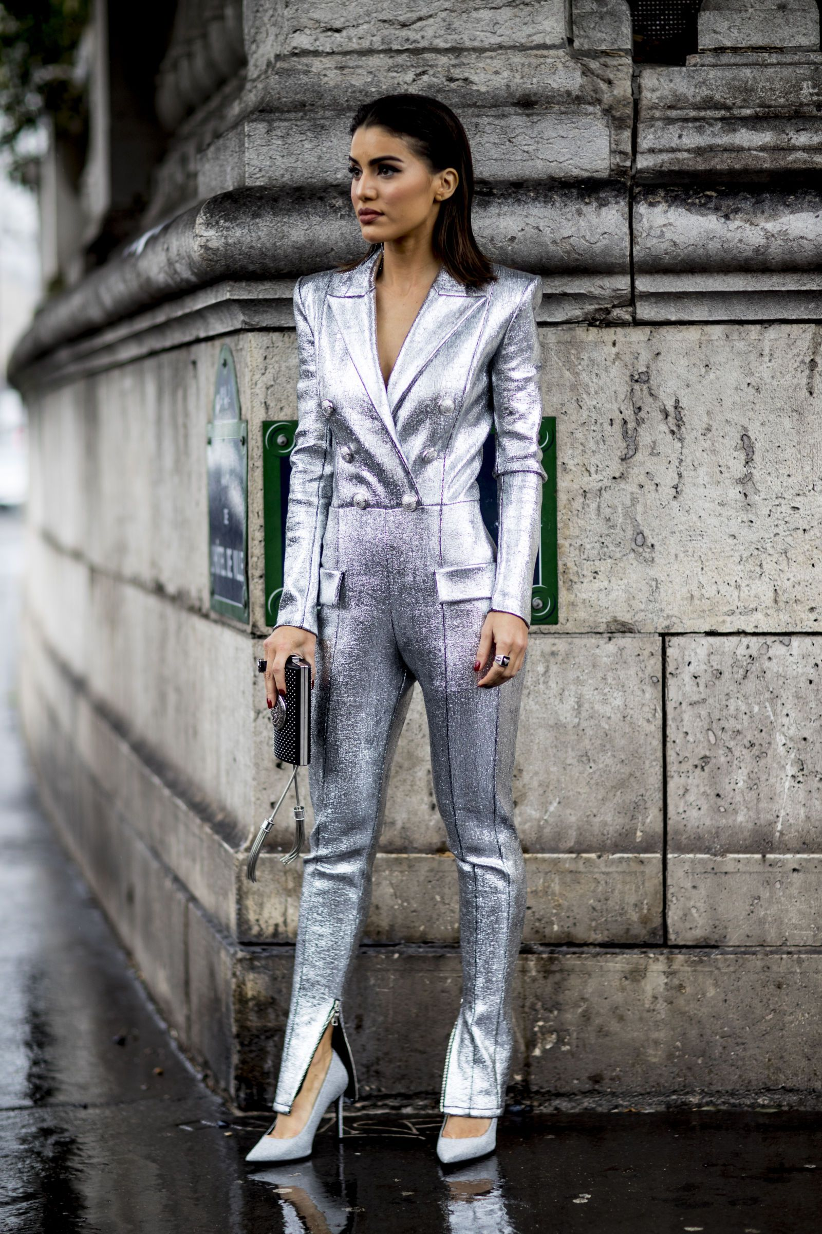 857030dcad0d The Best Street Style At Paris Fashion Week AW18