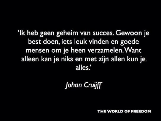 Sportcitaten : Johan cruijff vivier citaten pinterest