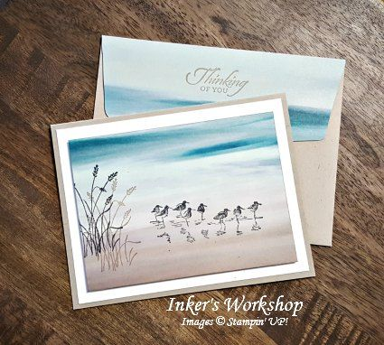 Beach Combers! Card & envelope from Inker's Workshop 2016