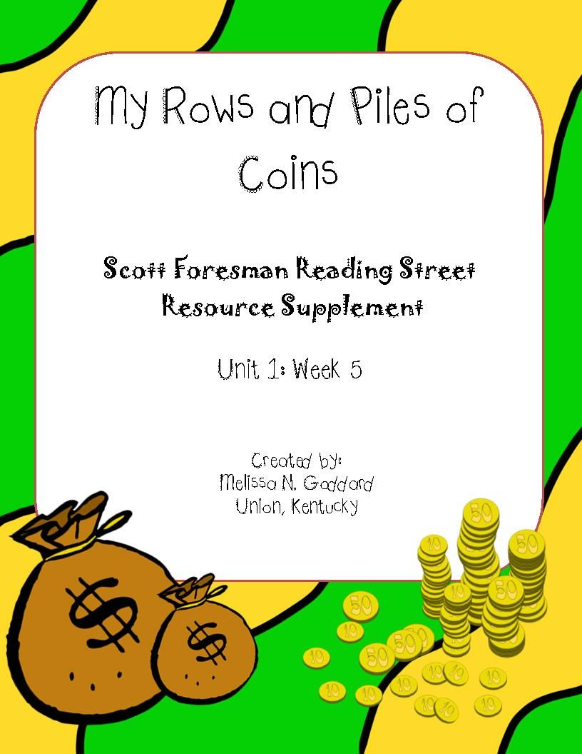 My Rows And Piles Of Coins Reading Street Reading Street 3rd Grade Book Genres Reading street grade unit week 4