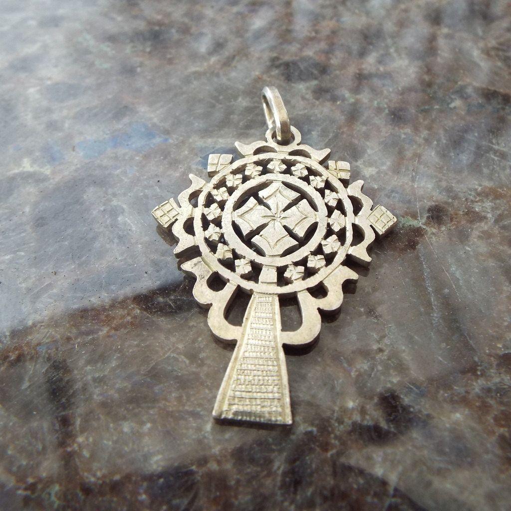 Fancy Sterling Cut Work Cross Pendant, Ornate Celtic Design! by AnAntiqueTreasure on Etsy