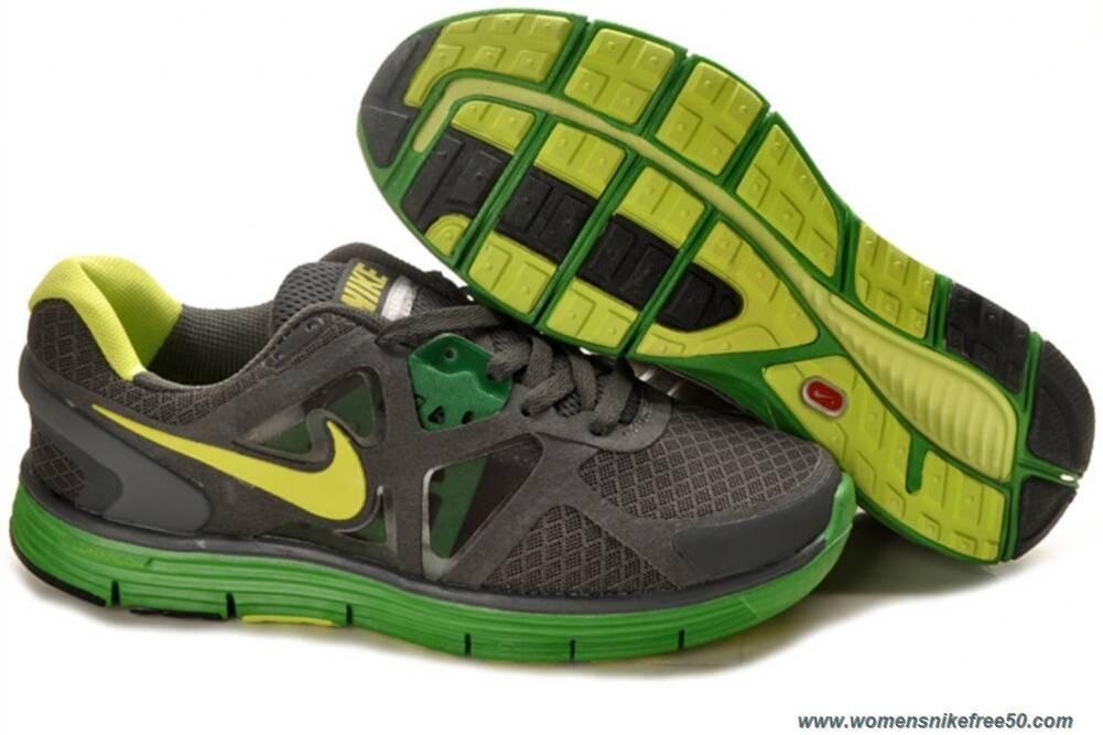 Nike Black Green Yellow Lunarglide 3 Shoes