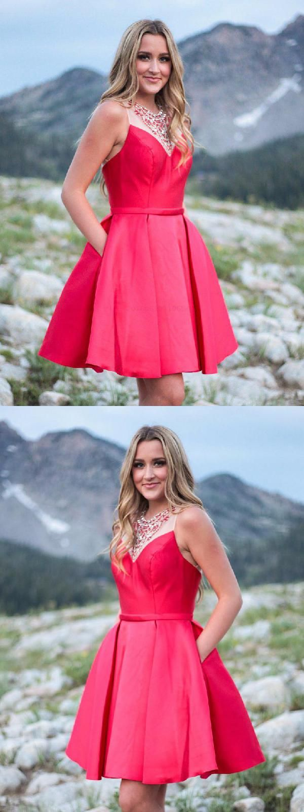 Aline red short amy short homecoming dresses