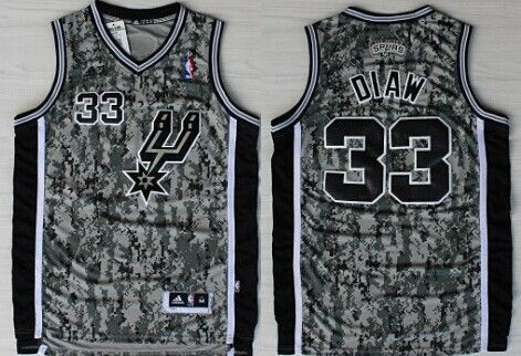 San Antonio Spurs  33 Boris Diaw Revolution 30 Swingman Camo Jersey ... a029eb5e1