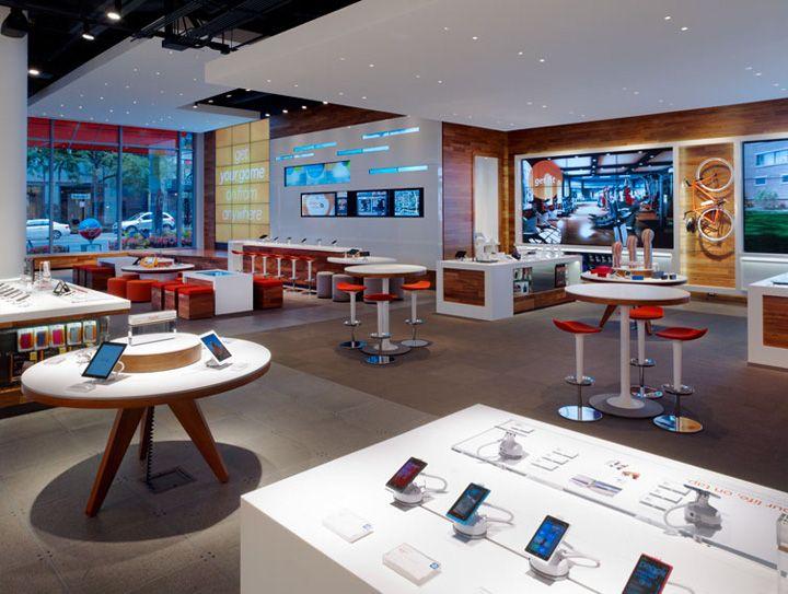 Phone Shop | Retail Design | Retail Display | AT T Michigan Avenue ...