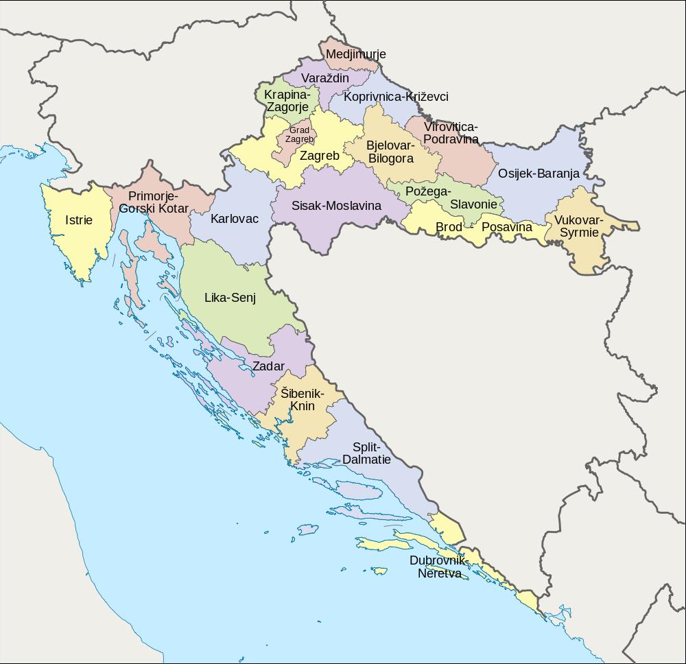 Counties Of Croatia Kroatien Reisen