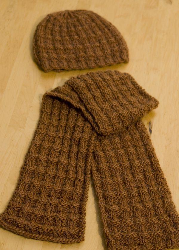 Knittedscarfpatternsmen Reversible Tweed Scarf Knitting Pattern