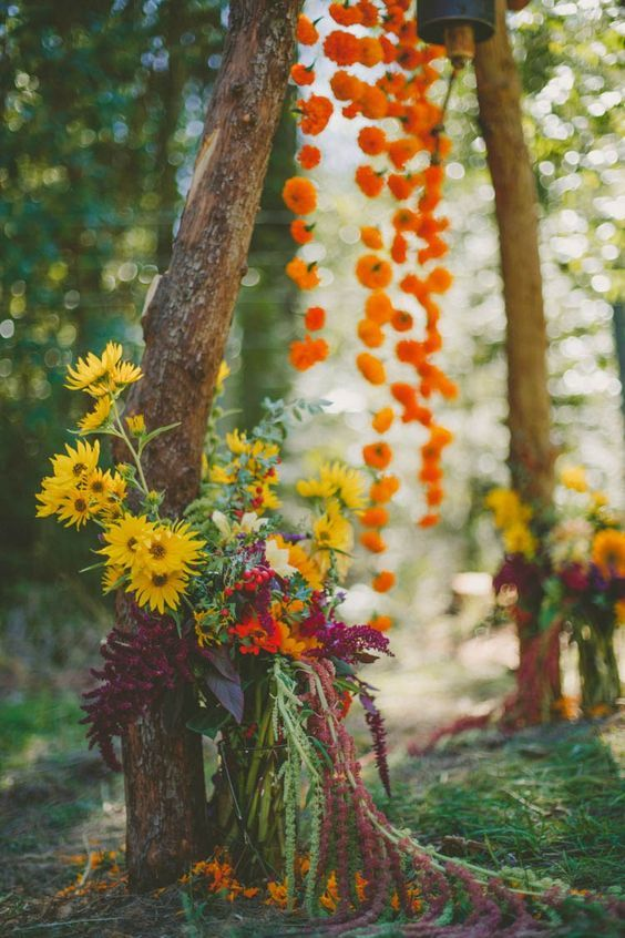 9109edb8e80 40 Cheerful Fall Orange Wedding Ideas - Deer Pearl Flowers   http   www