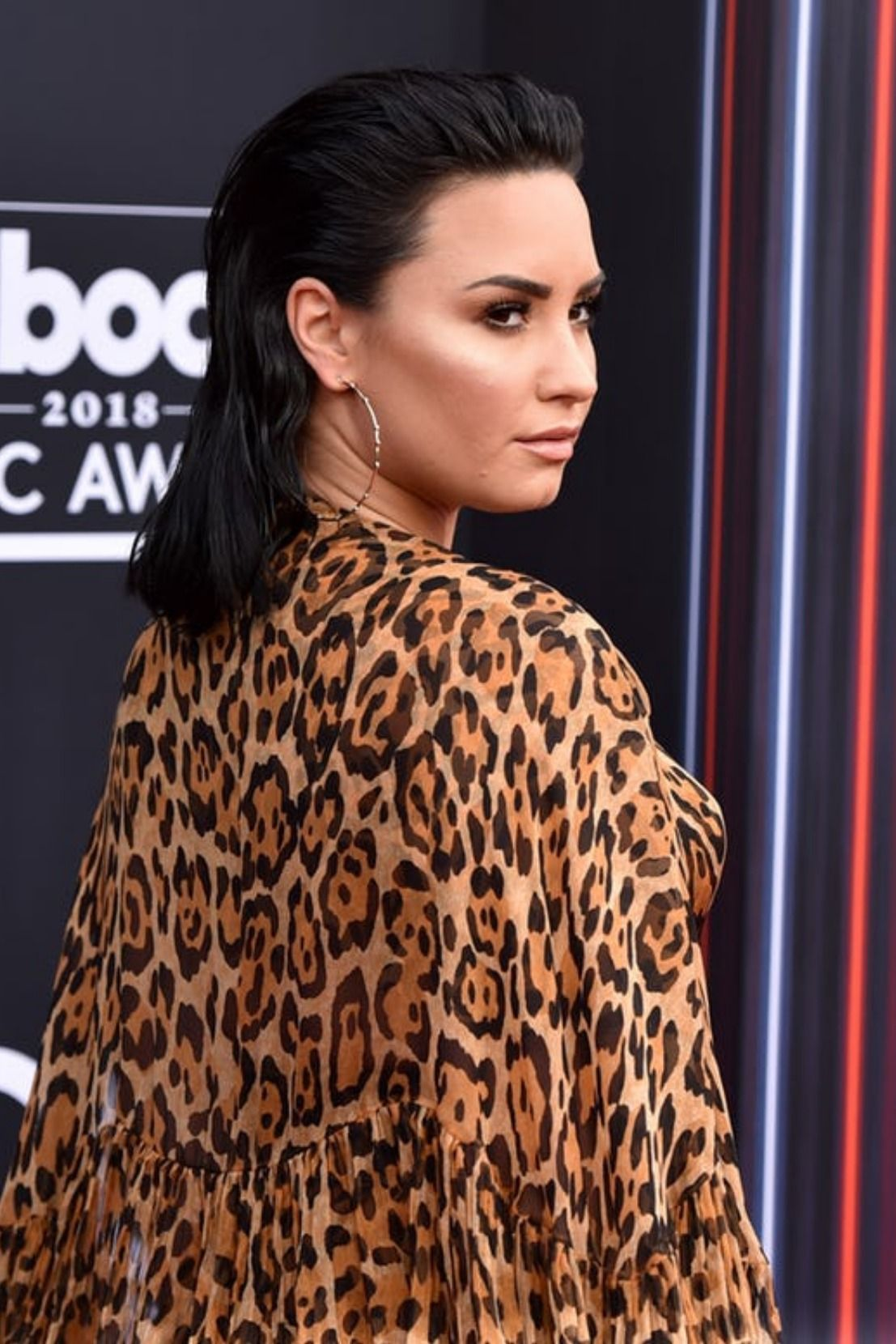 Demi arrived at the Billboard Music Awards 2018 dressed in