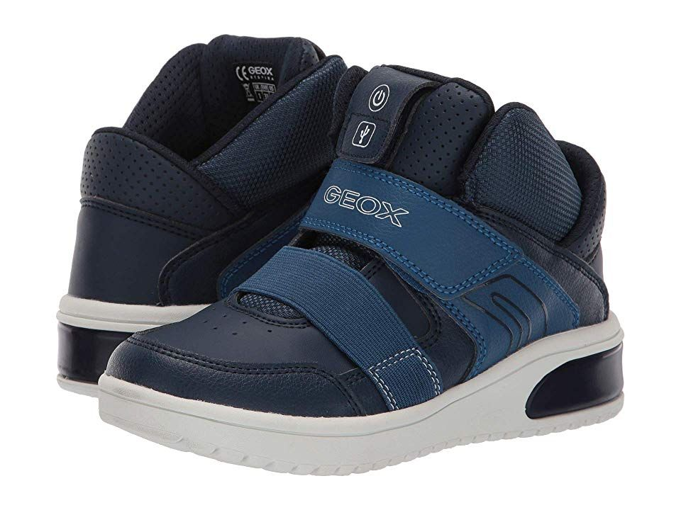 Geox Kids Xled 1 (Little KidBig Kid) Boy's Shoes Navy