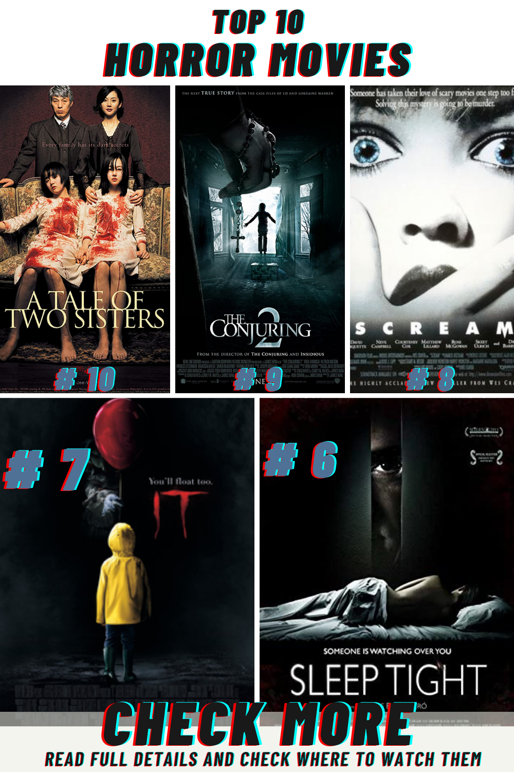 Top 10 Must Watch Best Horror Movies Of All Time Top Horror Movies Horror Movies Scariest Best Horror Movies