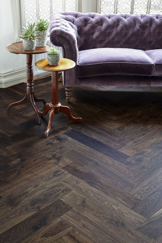 Junckers Walebone Staves Pre Finished Parquet Floor In Solid Black