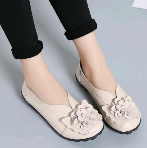 ebay women shoes 2018 fashion flowers slipon genuine