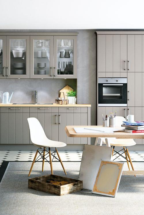Grau muss ganz und gar nicht kühl sein - das beweist diese - küche landhaus weiß