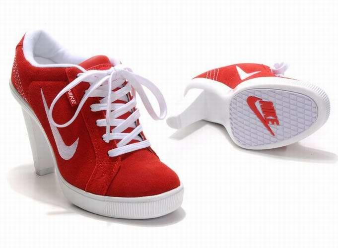 best website 5588d 59c1f 2012 Nike Dunk SB High Heels Red White