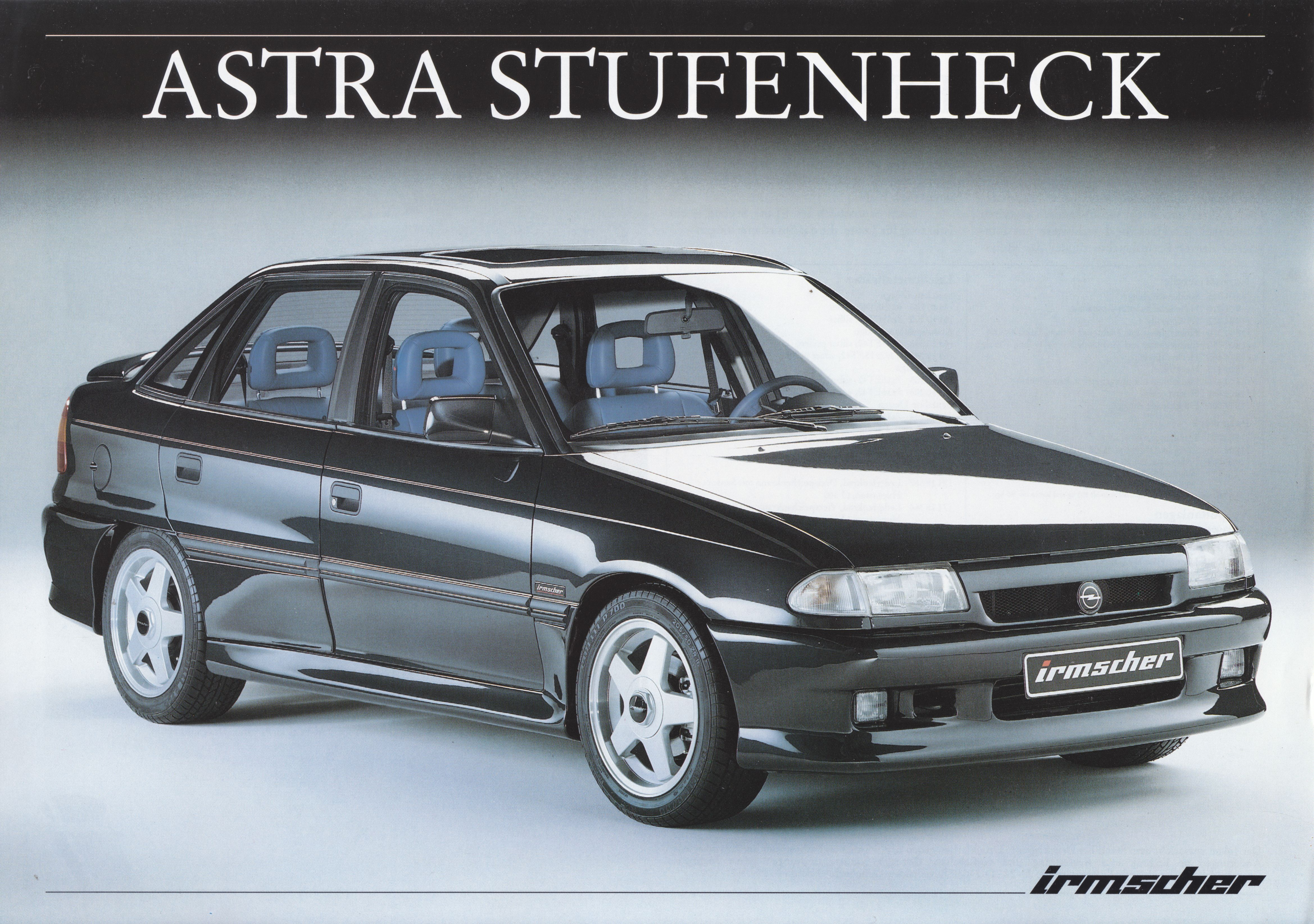 Opel Astra Sedan By Irmscher Leaflet Dated 11 1993 Opel Vauxhall Cars For Sale