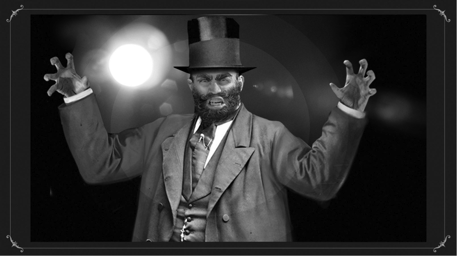 Circusdirecteur met hoge hoed