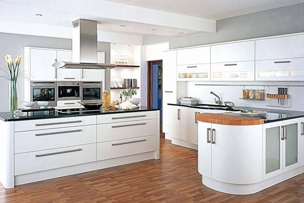 cocinas modernas blancas cocinas integrales Pinterest Cocina - Cocinas Integrales Blancas