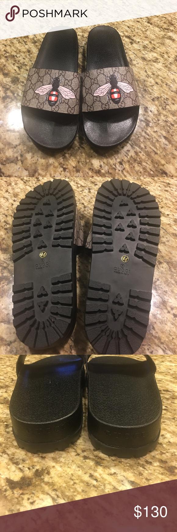b081aa771fe6 Gucci Bumble Bee Slides Mens Gucci slides Gucci Shoes Sandals   Flip-Flops