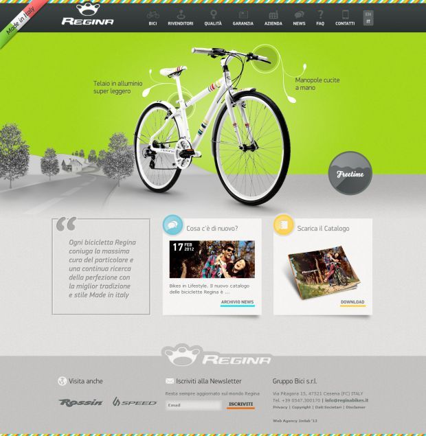 biciclette regina best website web design inspiration showcase wwwniceoneilikecom - Best Home Page Design