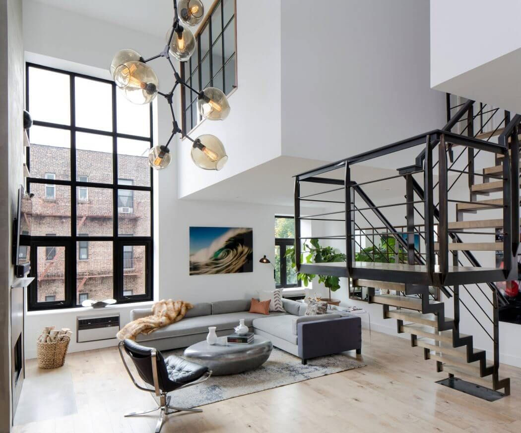 Soho Duplex By Decor Aid Homeadore Stairs In Living Room Loft Design Apartment Interior Design