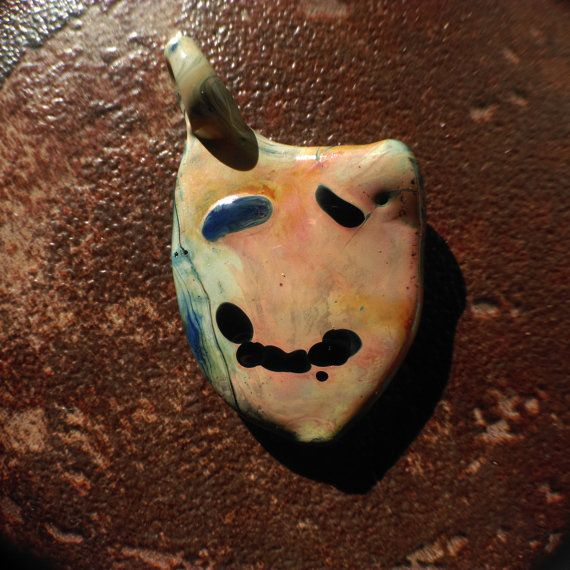 Happy or Sad Pendant  Theater Charm  Hand by SublimingSensation