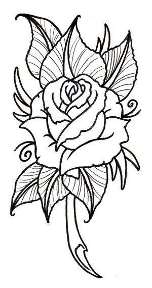 Rose Flower Drawing Roses Drawing Flower Outline Rose Outline
