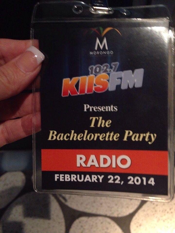 KISS FM:  The Bachelor pre-launch party.
