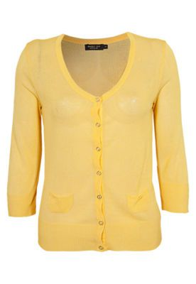Cardigã Shop 126 Gold Amarelo
