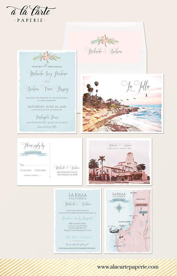 La Jolla California San Diego Ca Illustrated Destination Wedding