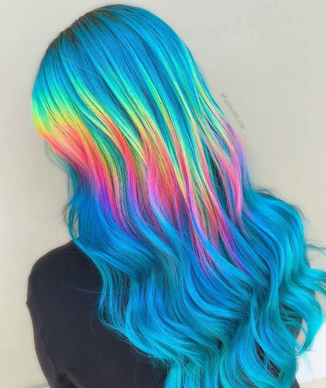 Rainbow Shine Line Btcfirstfeature By Fabhairbyjosh Color Pulpriothair Haloprism Holographic Hair Rainbow Hair Color Creative Hair Color